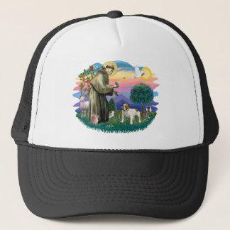 English Bulldog (brown-white) Trucker Hat