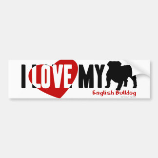 English Bulldog Bumper Sticker