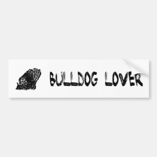 English bulldog bumpersticker  bumper sticker