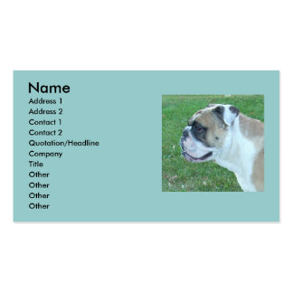 English Bulldog Business Cards! Double-Sided Standard Business Cards (Pack Of 100)
