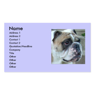 English Bulldog Business Cards. Double-Sided Standard Business Cards (Pack Of 100)