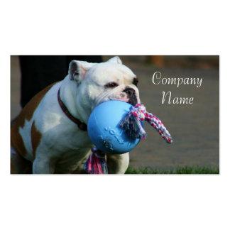 English bulldog business cards