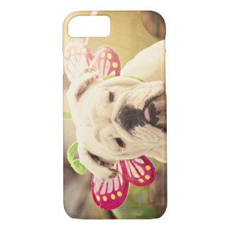 English Bulldog Butterfly iPhone Case