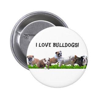 English Bulldog 2 Inch Round Button