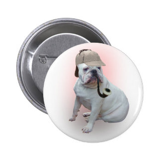 English bulldog pinback button