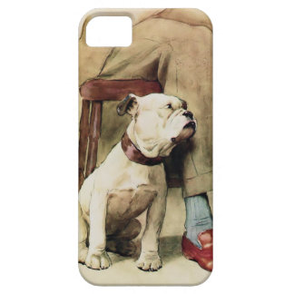 English Bulldog by his Masters Side iPhone SE/5/5s Case