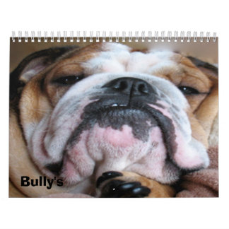 english bulldog calender calendar