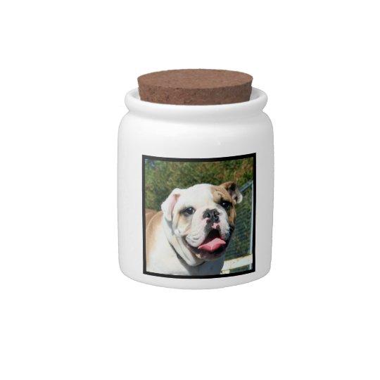 English bulldog candy jar