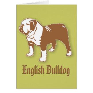 English Bulldog Card