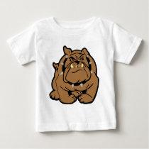 English Bulldog Cartoon Baby T-Shirt