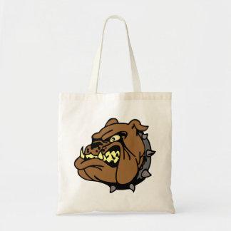 English Bulldog Cartoon Tote Bags
