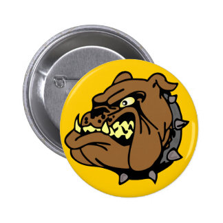 English Bulldog Cartoon Button
