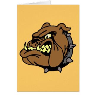 English Bulldog Cartoon Greeting Card