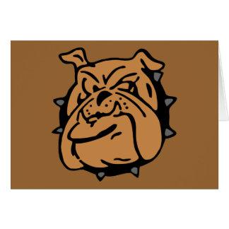 English Bulldog Cartoon Card