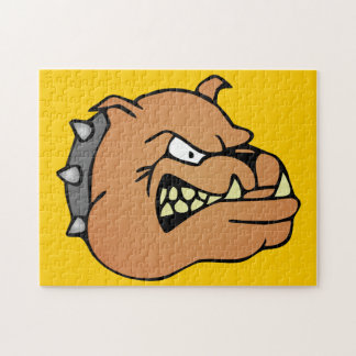 English Bulldog Cartoon Jigsaw Puzzle