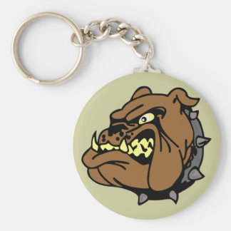 English Bulldog Cartoon Keychain