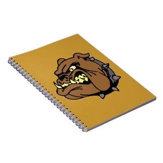 English Bulldog Cartoon Notebook