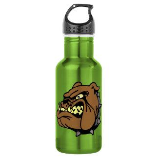 English Bulldog Cartoon 18oz Water Bottle