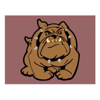 English Bulldog Cartoon Postcard