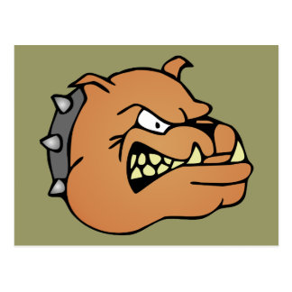 English Bulldog Cartoon Post Card