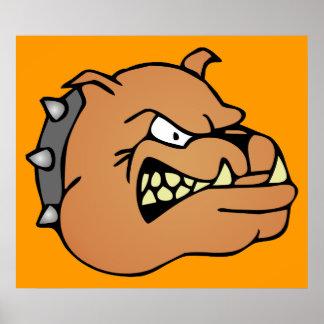 English Bulldog Cartoon Print