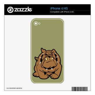 English Bulldog Cartoon Skins For iPhone 4S