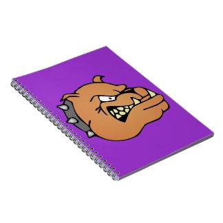 English Bulldog Cartoon Spiral Notebook