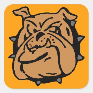 English Bulldog Cartoon Square Sticker