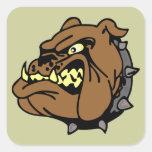 English Bulldog Cartoon Stickers