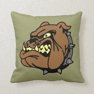 English Bulldog Cartoon Throw Pillow