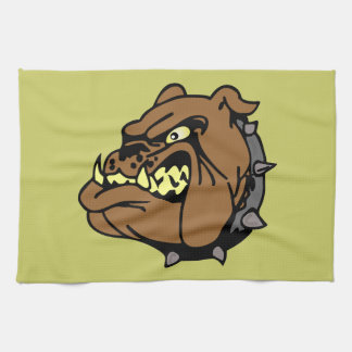 English Bulldog Cartoon Towel