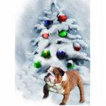 English Bulldog Christmas Ornament Acrylic Cut Outs
