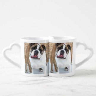 English Bulldog Coffee Mug Set