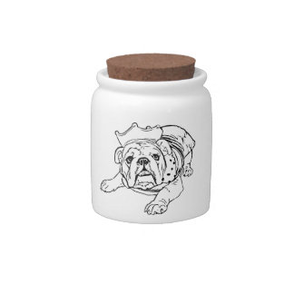 English bulldog cookie jar candy dish