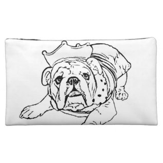 English Bulldog Cosmetic Bag at Zazzle