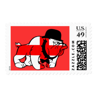 English Bulldog cross of St George English flag Stamps