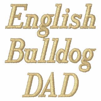 English Bulldog DAD Embroidered Polo Shirt