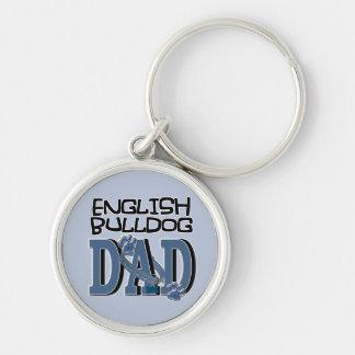 English Bulldog DAD Keychain