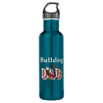 English Bulldog Dad Water Bottle