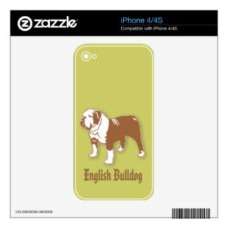 English Bulldog Decals For The iPhone 4S