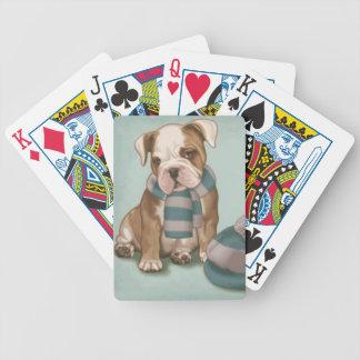 English Bulldog Dog Playing Cards