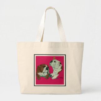 English Bulldog Duo Large Tote Bag