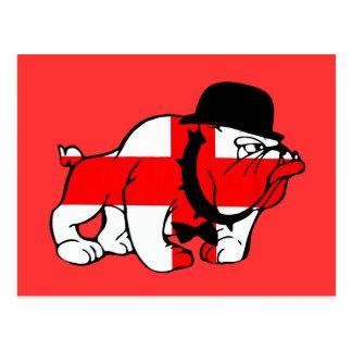 English Bulldog English flag Postcard