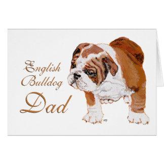 English Bulldog Fathers Day Card