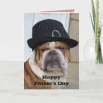 English Bulldog Father's Day Card
