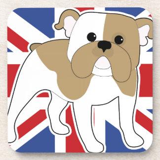 English Bulldog Flag Beverage Coaster