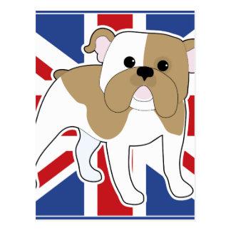 English Bulldog Flag Postcard