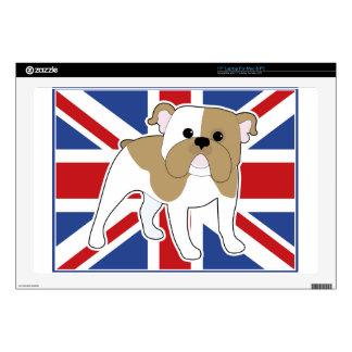 English Bulldog Flag Decals For Laptops