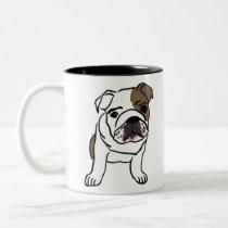 English Bulldog Gift Shirts Nope Lazy English Bull Two-Tone Coffee Mug