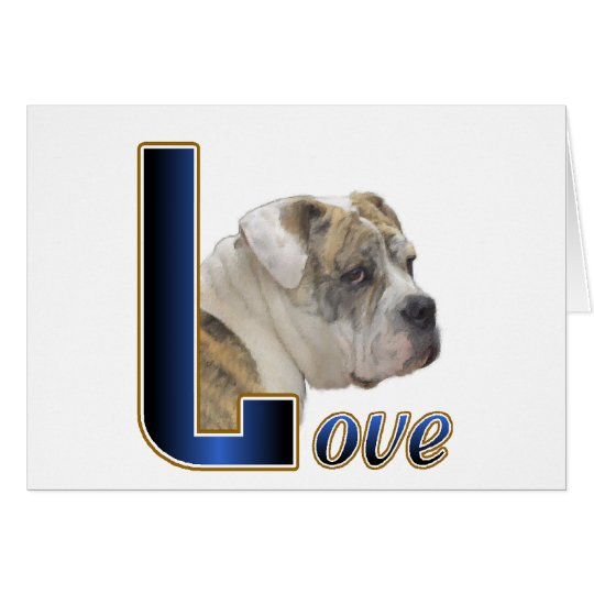 English Bulldog Gifts Card